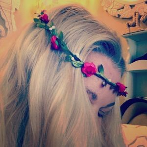 Boho floral hair wreath crown -  multiple  colors